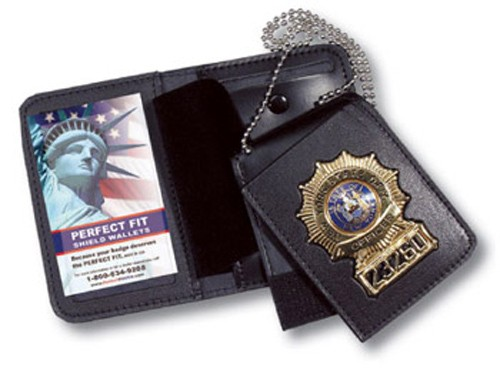 4 in 1 Duty Leather ID & Badge Case WAC050