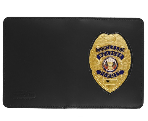 Double Window ID Case w/External Cutout with Pointed Shield Cutout
