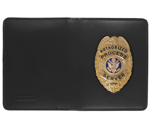 Double Window ID Case w/External Cutout with Oval Shield Cutout