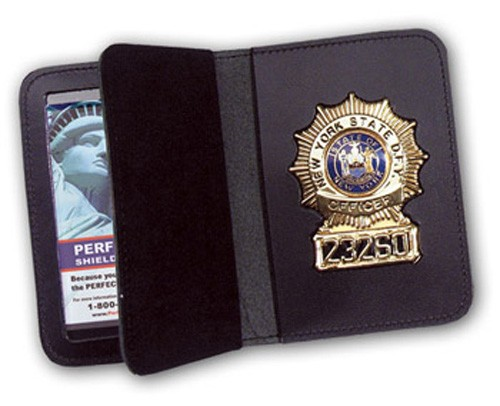 Duty Leather Double ID & Badge Case