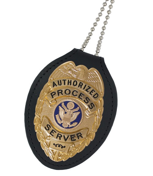 Universal Oval Belt Clip Holder (pictured with badge)