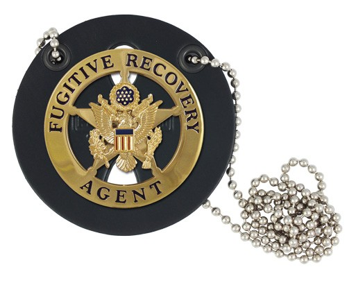 Round Neck Badge Holder with Chain (badge example)