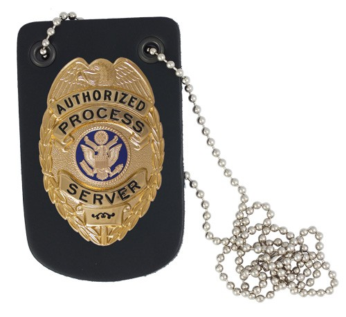 Neck Badge Holder with Chain (pictured with badge)