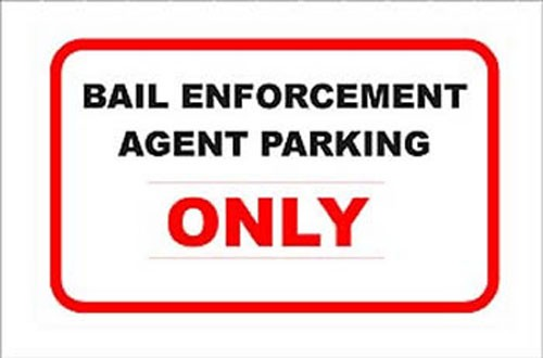 Bail Enforcement Aluminum Sign