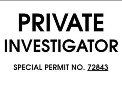 Private Investigator Windshield Pass