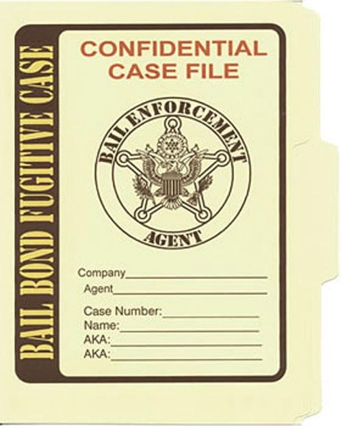 Bail Bond Fugitive File Folder 5-Pack