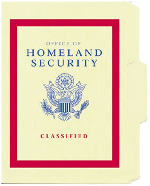 Homeland Security File Folder 5-Pack