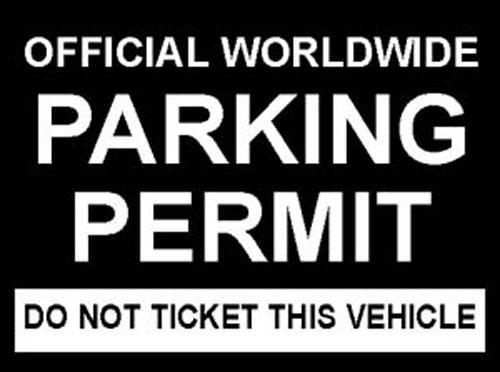 Parking Permit Windshield Pass