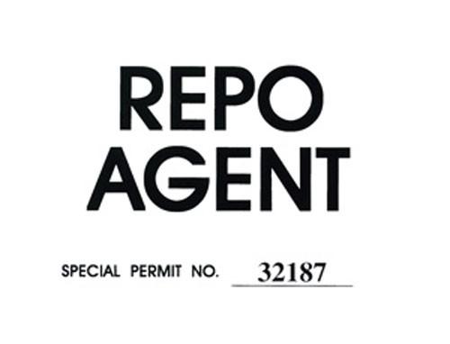 Repo Agent Windshield Pass