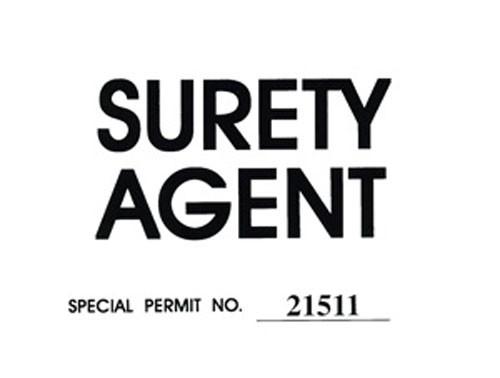 Surety Agent Windshield Pass