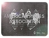 Square Press Association Foil Hologram