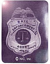 Square Bail Enforcement Foil Hologram