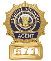 Sunburst Semi Custom Fugitive Recovery Agent Badge