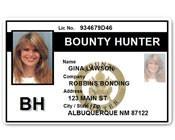 Bounty Hunter PVC ID Card BFP015