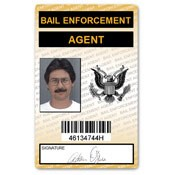 Bail Enforcement Agent PVC ID Card