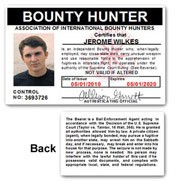 Bounty Hunter PVC ID Card C04PVC