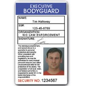 Executive Bodyguard PVC ID Card C05PVC