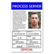 Process Server PVC ID Card C100PVC