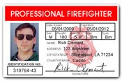 Professional Firefighter PVC ID Card