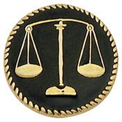 Black Scales Of Justice Center Seal