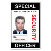 Special Security Officer PVC ID Card