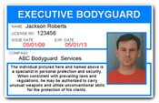 Executive Bodyguard PVC ID Card C506PVC