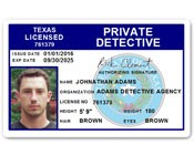 Private Detective PVC ID Card C510PVC