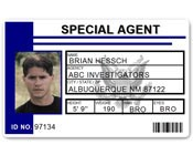 Special Agent PVC ID Card C511PVC