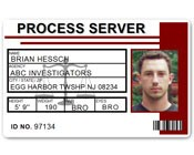 Process Server PVC ID Card C515PVC