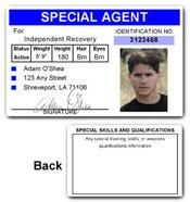 Special Agent PVC ID Card C72PVC