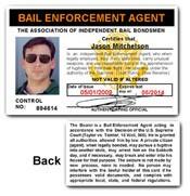 Bail Enforcement Agent PVC ID Card C87PVC