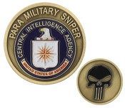 CIA Para Military Sniper Challenge Coin