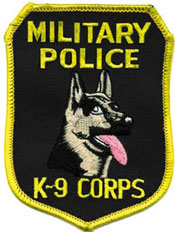 MP K-9 Corps Patch