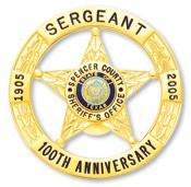 2.13 inch Round 5 Point Star Smith & Warren Badge E3010B