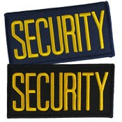 Small Security Hat or Jacket Patch