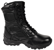 Forced Entry Black 8'' Side Zip Boot