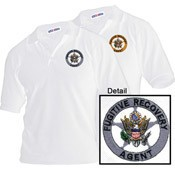 Fugitive Recovery White Embroidered Polo