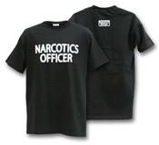 Narcotics Officer Black T-Shirt