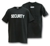 Security Black T-Shirt