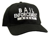 Bail Enforcement Agent White Embroidered Black Cap