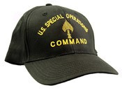 US Special Operations Gold Embroidered Black Cap