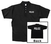Police Black Printed Polo Shirt