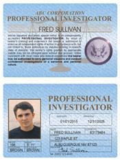Professional Investigator Standard Folio