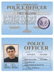 Police Officer Standard Folio