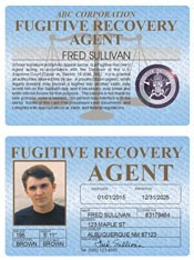 Fugitive Recovery Agent Standard Folio