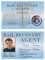 Bail Recovery Agent Standard Folio