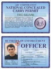 Retired LEO Concealed Carry Permit Deluxe Folio