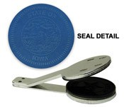 Iowa State Seal Embosser