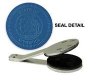 Wyoming State Seal Embosser