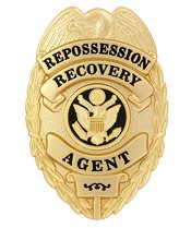 Repossession Recovery Agent Badge